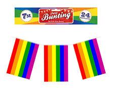 Rainbow 23ft Flag Bunting - Freedom rainbow Celebration Gay Pride LGBT Lesbian