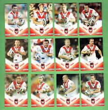 2010 NEWSPAPER  RUGBY LEAGUE CARDS - ST. GEORGE