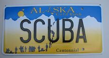 "ALASKA VANITY License Plate "" SCUBA "" DIVE UNDER WATER DIVING TANK FISH FLIPPER"