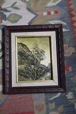 Vintage estate oil painting landscape stream in  A. Howard   ornate frame