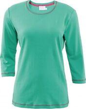 Unifarbene 3/4 Arm Damen-T-Shirts aus Baumwolle