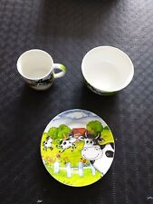Used Porcelain Dinner Set, Plate, Cup and bowl Girls