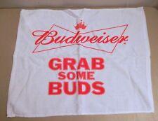 "New ""Budweiser"" Beer Bar Towel ""Grab Some Buds"" Promo"