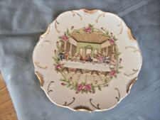 "Last Supper Religious Collector Plate 8 1/8"" Vintage Wall Hanging Decorative 18k"
