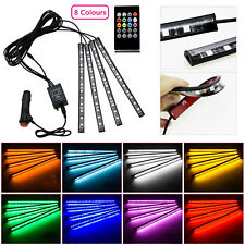 12LED Car Interior Footwell Lights RGB Multicolour Remote Atmosphere Deco