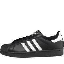 Adidas Superstar 2 zapatillas de piel blanco y negro deportes hombre moderno 44 ⅔