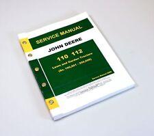 JOHN DEERE 110 112 LAWN and GARDEN TRACTOR SERVICE REPAIR TECHNICAL SHOP MANUAL