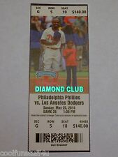 Josh Beckett No-Hitter 5/25/2014 Dodgers Phillies UNUSED MINT Ticket RARE FOIL!