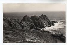 Logan Rock - Porthcurno Real Photo Postcard c1950s / Penzance
