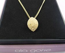 Scottish Ola Gorie 9ct Yellow Gold Mistral Pendant 9ct Chain or 9ct Wire