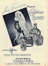 1961 D AD  MYRURGIA PERFUME GOYESCA FLAMENCO DANCER