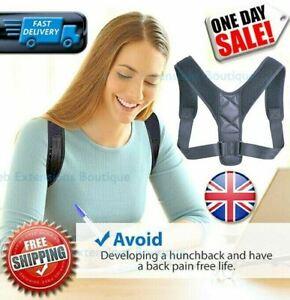 Posture Corrector Back Support Body Brace Strap Belt Lumbar Shoulder Neck Arm🔥✅