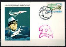 1989-Carte Fdc 1°Jour**/Marcel Dassault-Le Bourget(93)-Bréguet-Yt..2544