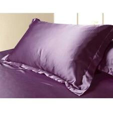 Silk Satin Cover Standard Queen Soft Comfort Solid Protector Summer Pillow Case Light Purple