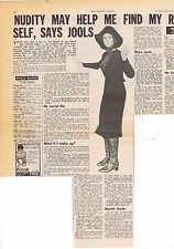 JULIE DRISCOLL press clipping 1968 30X40cm (8/6/1968)