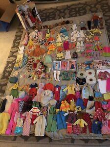 vintage barbie, francie, midge, ken case and clothes
