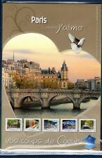 COLLECTOR TIMBRES COMME J' AIME PARIS 2012 10 TIMBRES AUTOCOLLANTS