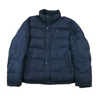 Tommy Hilfiger Classic Nylon Puffer Jacket Coat Parka Size Large Navy Blue