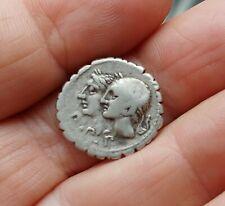Ancient Roman Republic Coin F. Sulpicico Silver Denarius 106Bc Beautiful !