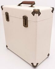 "Custodia RECORD Crema GPO 12"" Stile Vintage STORAGE DJ Carry VOLO BOX VINILE LP"