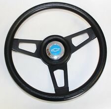 "C10 C20 C30 Blazer Grant Black Steering Wheel Black spokes 13 3/4"" blue bowtie"