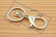 Lobster Clasps Clips Claw purse hooks Swivel snap hook light gold 6 pcs AC75