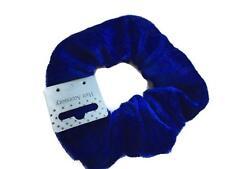 Super Soft Scrunchie Royal Blue Velour Velveteen Hair Elastic Bobble Large size