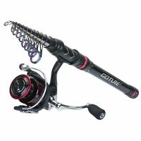 Goture Telescopic Fishing Rod and Reel Combo 1.8M-3.6M Spinning Reel Saltwater