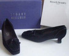 Russell bromley Weitzman Negro Mocasín Tacón Borla Tribunal Zapatos Talla EU 37 UK 4