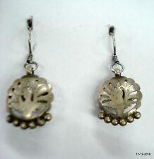 ear plug earrings peacock design Vintage antique tribal old silver