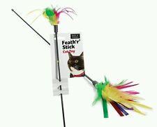 Feather Tickler Cat Toy | Stick Cat Teaser | Feath'r' Stick Feather Stick Kitten