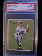 1933 Goudey Earl James #213 PSA 4.5 VG-EX+ Check out my other listings!