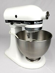 Kitchenaid Mixer Classic Plus White -WORKS GREAT- All proceeds go to CHARITY