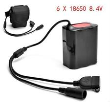 Battery Pack 8.4V USB Rechargeable 12000mAh 6x18650 Bicycle Light Bike Outdoors