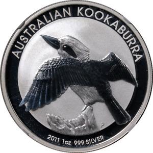 2011-P Australia Silver $1 - Kookaburra - NGC MS70 Brown Label - STOCK