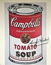 ANDY WARHOL SIGNED * CAMPBELL'S SOUP CAN I * PRINT