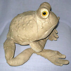 "Charleen Kinser Tom's Toad 1981 signed #166 leather frog 13"" x 10"" artist USA"