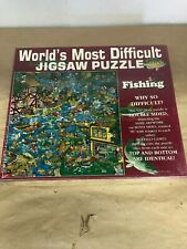 BUFFALO GAMES - WORLDS MOST DIFFICULT JIGASAW PUZZLE - FISHING - NEW SEALED