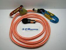 """1/2"""" X 8' Wire Core Lanyard Kit W/ Rope Grab & Carabiner - Aluminum Swivel Snap"""