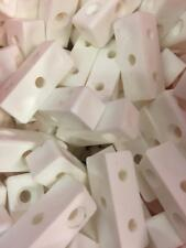 50 x WHITE MODESTY BLOCK KITCHEN CABINET CUPBOARD FIXING JOINT CONNECTOR BLOCKS