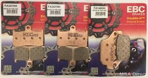 Triumph Street Triple 675R (2009 to 2012) EBC Sintered FRONT and REAR Brake Pads