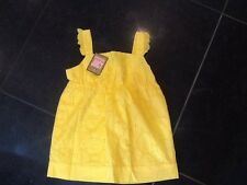 NWT Juicy Couture New & Gen. Girls Age 8 Yellow Cotton Broidraanglese Top & Logo