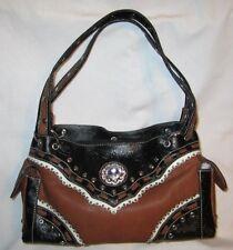 Western Purse-Handbag/2 Tone - Rhinestone Jewel/ - New - BA2020-C