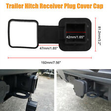 Universal Trailer Hitch Receiver Hook Plug Cover Cap Dust Protector Van Truck