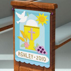 First Communion Pew Banner Felt Craft Kit - Baptism Wedding Party Decorations