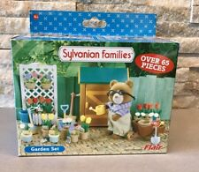 Vintage Sylvanian Families Garden Set RARE Shop hangar retraité BOXED COMPLETE difficile