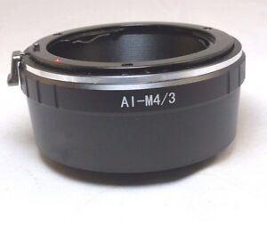 Nikon F Ai-s Lens to Micro 4/3 M4/3 Camera Mount Adapter GF3 GH4 5 Panasonic