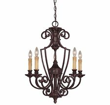 Savoy House 1P-50218-5-16 Chandelier with Candles, Antique Copper Finish