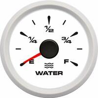 52mm Water Fuel Gauge Marine Car Boat  Water Tank Level Gauge 0-190 ohms 7Colors
