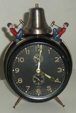 REVEIL ALARME AUTOMATE Vintage Jerger Germany Busy Boy Bell Wind Up Alarm CLOCK